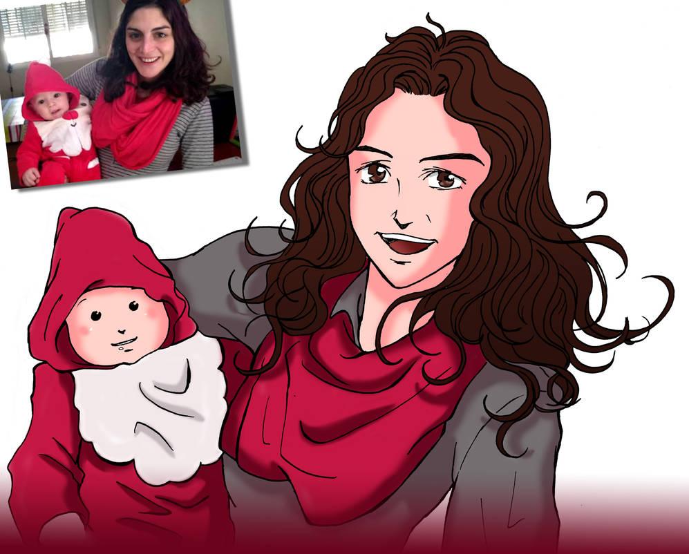 Commission - anime style portrait by Neldorwen