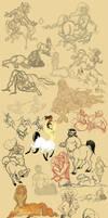 Centaur sketches by Emone