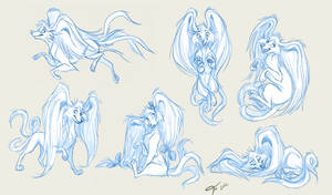 Sketch Page: stephy-monster by Emone