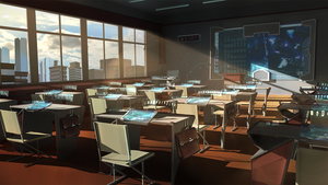 Futuristic classroom by Nezariel