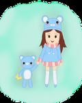 Mooglegurl and Aoikuma by LilBumbleBear