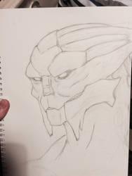 Turian Sketch 1 by mad-dragon249