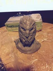 Turian sculpt 1 by mad-dragon249