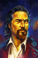 portrait - Jeff Bridges by h1fey