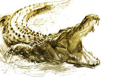 26/365 - crocodile by h1fey