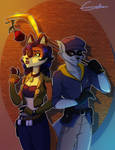Thief and Cop by EmilieSushi