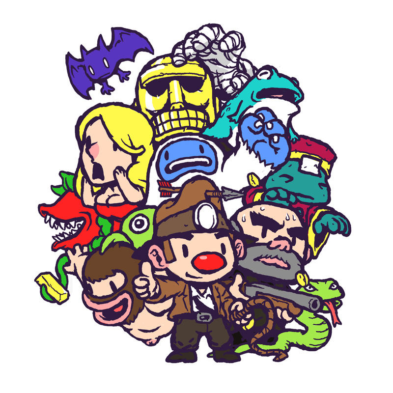 Spelunky Friends by bossquibble