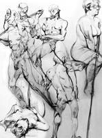Gesture Drawings Summer-Fall '12 by bossquibble