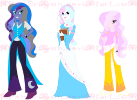 MLP: Equestria Girls DUSK versions by KPenDragon