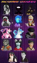 Draw Your Friends' OCs in Your Style by Knadire