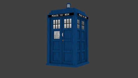 TARDIS Exterior 3D Model by ZackthetimelordRBLX