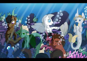 Ninja sea Ponies by Voltage-Art
