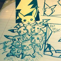 Pikachu Mob Wars by MadamSugarHigh
