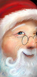 Santa Looking In - Christmas Card 2017 by Griatch-art