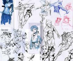 Pen Sketches E by WyntonRed