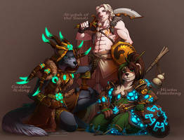 Warcraft Group Commission by artofcarmen
