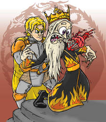 Death of Aerys II Targaryen by bicapop