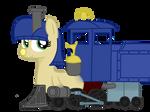 OC: Train pony, Lilly Bell by BroTraMan