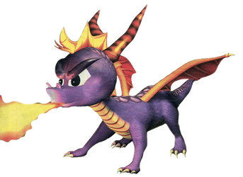 Spyro the Dragon - Spyro - Fire Breath by PaperBandicoot