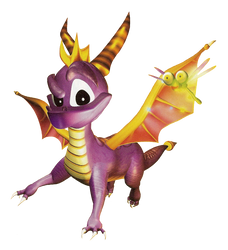 Spyro the Dragon - Spyro and Sparx - Jumping Pose by PaperBandicoot