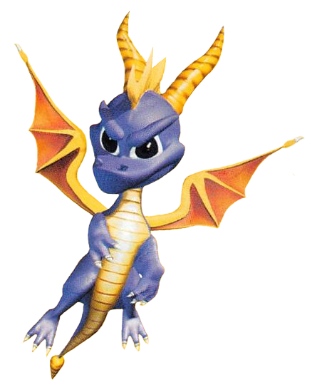 Spyro (Unknown) Render - Fly by PaperBandicoot