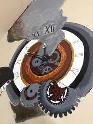 Father Time closeup shot of the clock by cluelessjinn