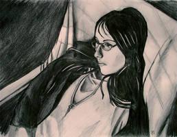 portrait - Anne by albinoferret