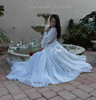 Snow White and Fountain STOCK IMG by Queens-Revenge