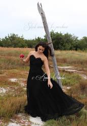 Snow White Black Dress STOCK IMG by Queens-Revenge