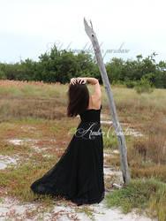 Snow White Black Dress STOCK IMG3 by Queens-Revenge