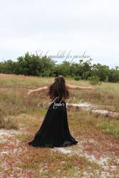 Snow White Black Dress STOCK IMG5 by Queens-Revenge