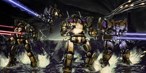AU Battletech:  Rolling Thunder by ThunderGodXarbala