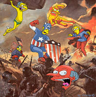 Invaders simpsons by Real-Warner