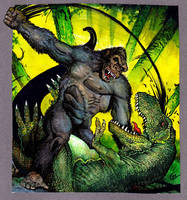 king kong fighting by Real-Warner