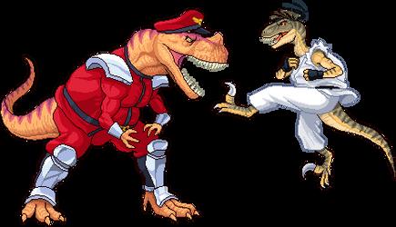 CeratoBison vs VelociRyuptor by Real-Warner
