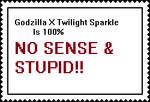 Godzilla X Twilight Sparkle makes no sense stamp by k92562