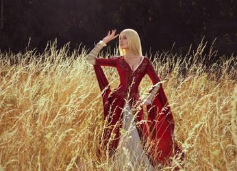 Young Cersei Walking Around Casterly Rock by bellatrixaiden