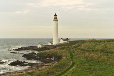 Scurdie Ness Lighthouse by Rick-TinyWorlds