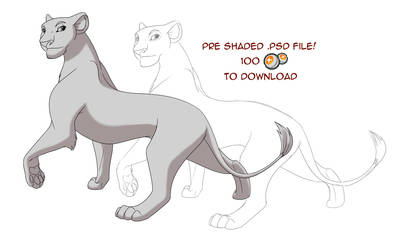 Downloadable Lioness Base by MaxPaineVolumn