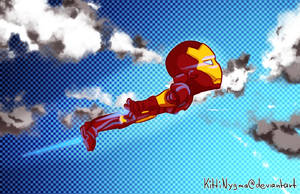 Flying Iron Man by LauraFMeis