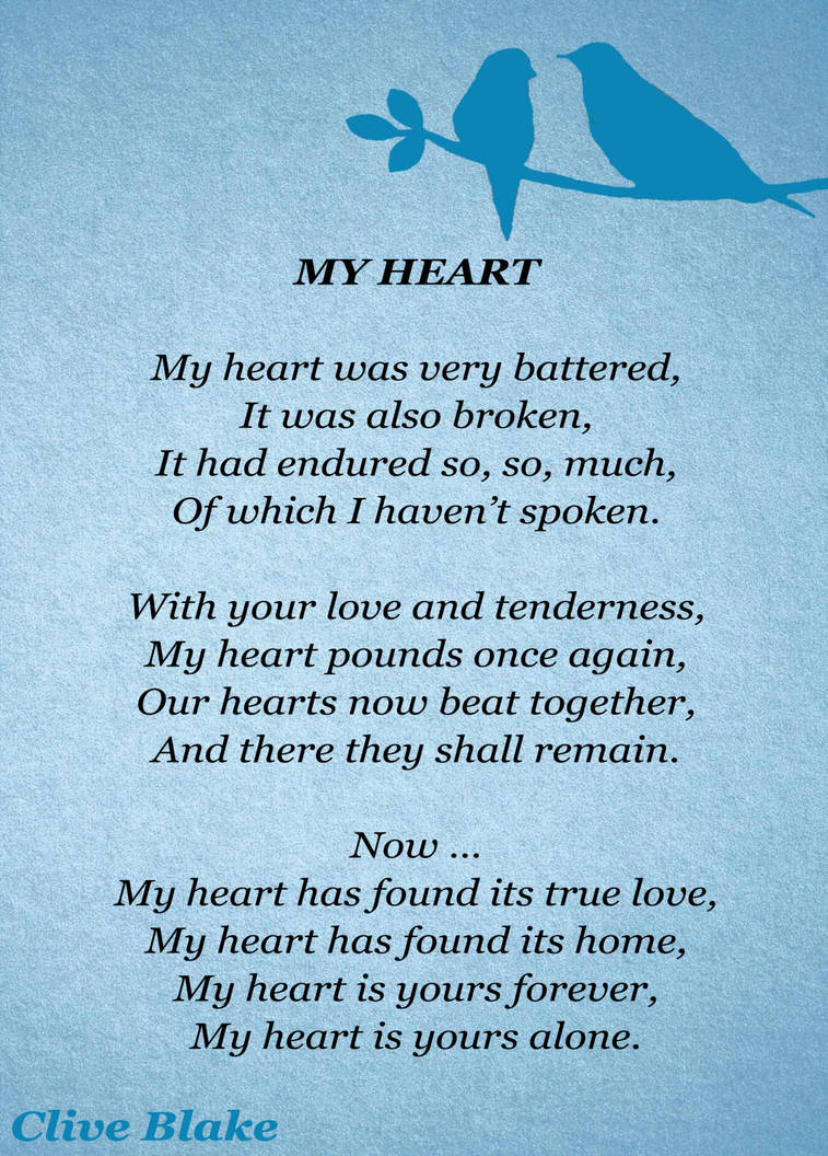 Love Poem 07a My Heart Love Poem Collection By Cliveblake On Deviantart