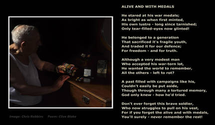 Remembrance Poem -Alive And With Medals -Poetry by CliveBlake