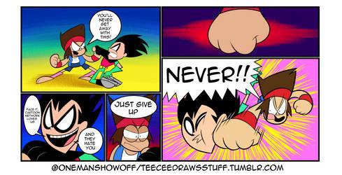 Ko vs. Robin by onemanshowoff