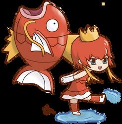 magikarp girl by winterchicken-chan