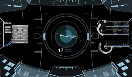 Spacey HUD Desktop by humakabula1