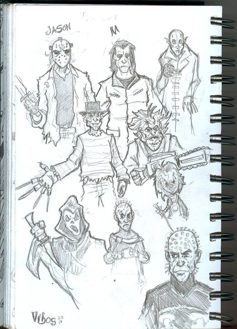 Horror Movie Characters By Vibog 3 On Deviantart
