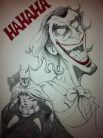 Joker and Bats by vibog-3