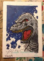 Godzilla sketch card by vibog-3