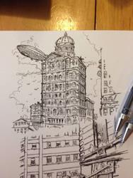 Building sketch  by vibog-3