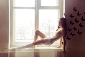 Dasha on the windowsill by avallonis